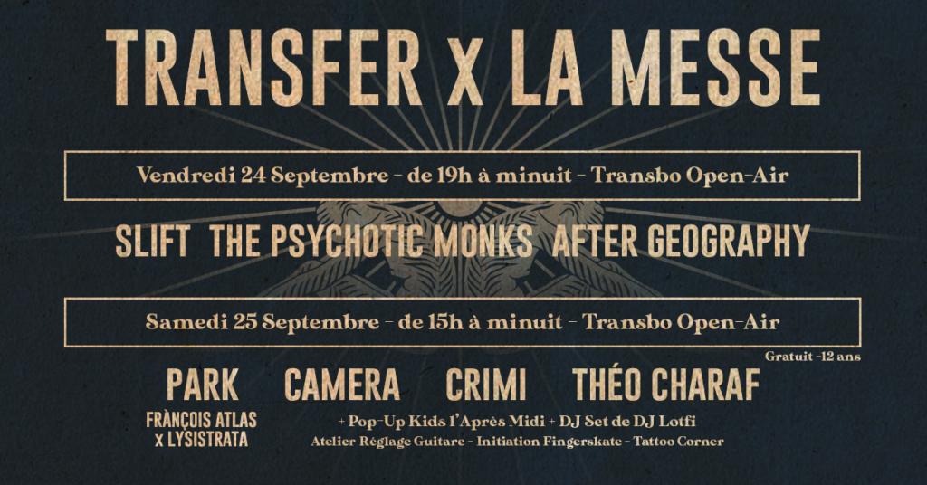Festival Transfer x La Messe au Transbo les 24 et 25 septembre 2021